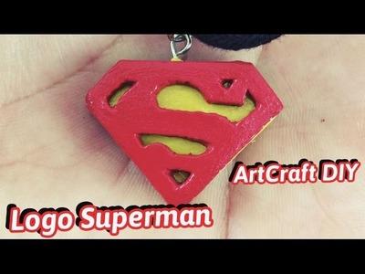 DIY Polymer Clay Superman Logo