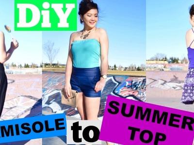 DIY QUICK AND EASY AND SEXY SUMMER TOP.DIY TUBE TOP.DIY X-BACK.DIY HALTER TOP