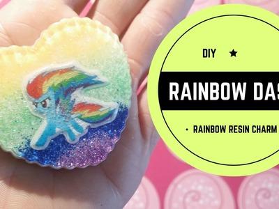 DIY -  Rainbow Dash -  Rainbow resin charms