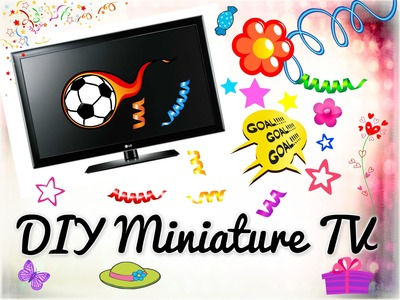 ❤ DIY Realistic Miniature TV with remote   easy