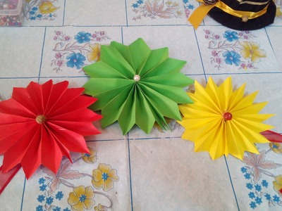 DIY Room Decoration with Paper Flower | DIY Room Decoration with Paper Flower + Tutorial .