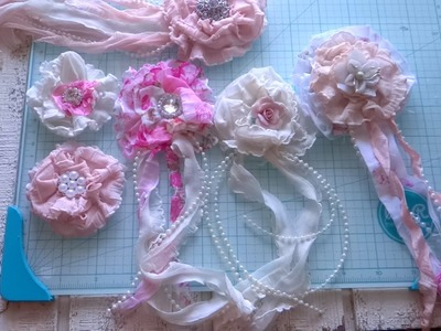 DIY - Shabby Chic Ruffle Flowers Tutorial