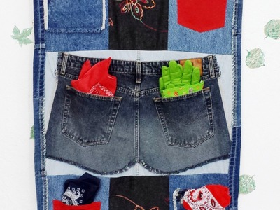 Hindsight DIY Denim Jeans Wall Hanging Organizer