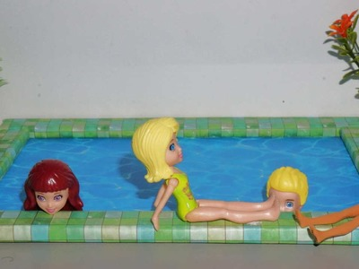 How to make a Doll Swimming Pool - miniature crafts DIY