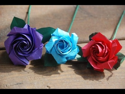 How To Make a Origami Paper Rose Simple -DIY Easy Origami Rose Tutorial