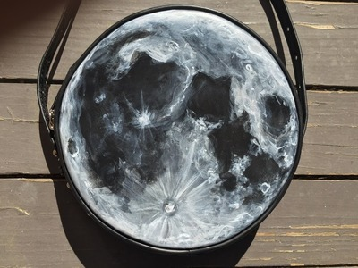 HOW TO PAINT THE MOON! DIY Moon Bag Painting Tutorial!