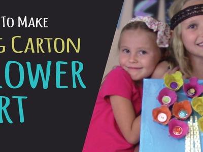 Kids Crafts – How To Make Egg Carton Flower Art – Egg Carton Craft
