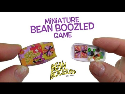 Miniature Bean Boozled Gross Jelly Bean Game! DIY Tiny Bean Boozled!