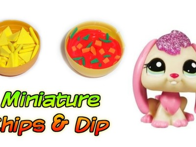 Miniature Doll Chips & Dip - How to Make Dollhouse DIY Food