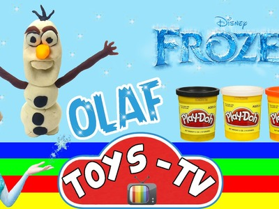Play Doh How to Make Disney Frozen Olaf Stop Motion DIY