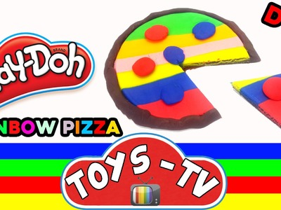 Play Doh How to Make Rainbow Pizza DIY ToysTV