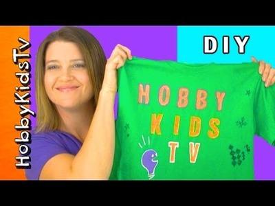 Puffy Painting! Decorate a Shirt with HobbySis, Art N Crafts DIY Fun HobbyKidsTV