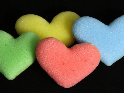 3D Heart DIY Using Kitchen Sponge