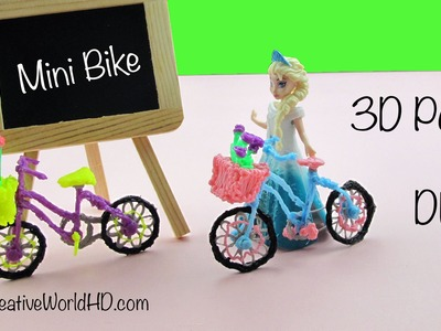 3D Pen Art: How to make Miniature Bicycle.Bike DIY Tutorial by Creative World