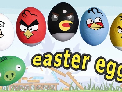 Angry birds Easter eggs DIY