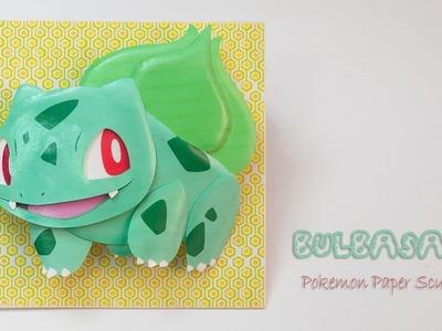 Bulbasaur pokemon paper sculpture DIY