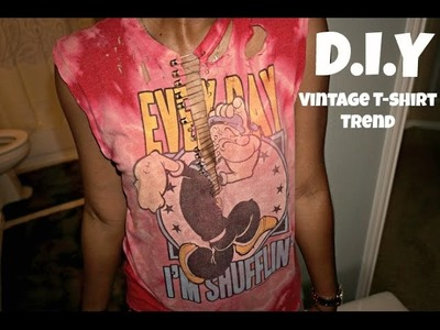 "D.I.Y: Make the ""Vintage T-Shirt Trend"" Your Own!"