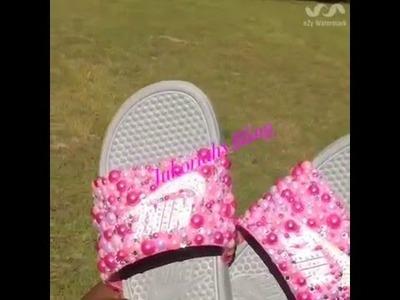 Diy bling Nike slides BLING HAUL