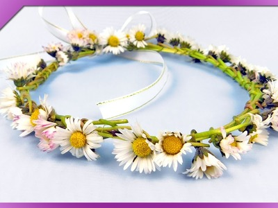 DIY Daisy head wreath for First Communion (ENG Subtitles) - Speed up #208