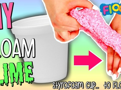 DIY FLOAM SLIME | How To make Floam out of Styrofoam Cups!! | Super Easy & FUN FLOAM!!