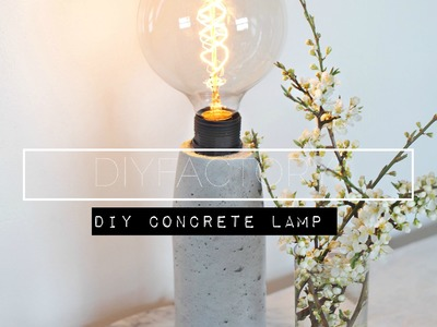 DIY - how to make a concrete lamp