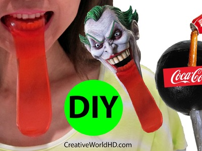 DIY: How to Make Edible Giant Lollipop and Joker's Tongue Gummy.Coca Cola Soda by Creative World