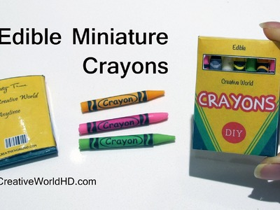 DIY: How to Make Miniature Edible Crayons Tutorial by Creative World