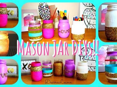 DIY: Mason Jar Room Decor | DearraLeann