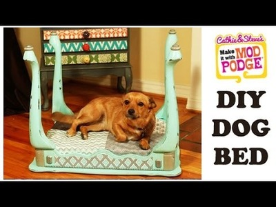 DIY Mod Podge Furniture Flip: Dog Bed Made from an End Table
