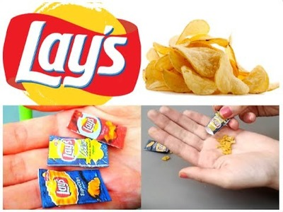 [DIY n°2] Realistic Miniature Lays Chips  for DollHouse | Like a Barbie