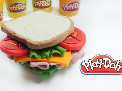 DIY Play-doh Ham Sandwich play doh tutorial