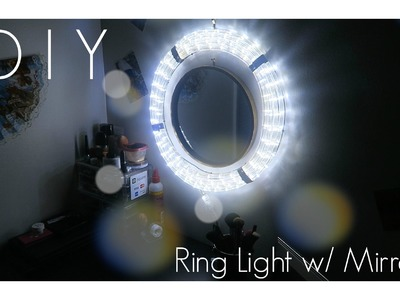 DIY Ring Light With Mirror!