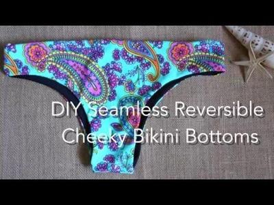 DIY Seamless Reversible Cheeky Bikini Bottoms