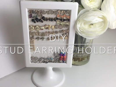 DIY Stud Earring Holder | Jewelry Organization