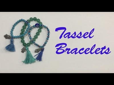 DIY TUTORIAL How to make Tassel Bracelet!