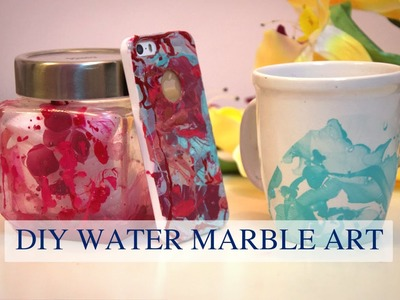 DIY Water Marble With Only 2 Ingredients (Easy Gift Ideas)