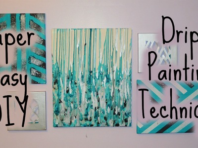 Drip Paint Canvas. DIY