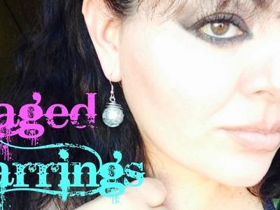 Easy Caged Earrings Cracked Marbles DIY Tutorial