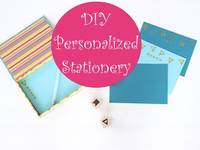 How To Craft: Cheap and ADORABLE DIY Personalized Stationery!