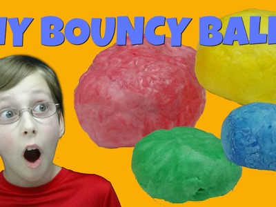 How To Make Bouncy Balls - Fun Easy DIY Kids Science Experiment | CollinTV