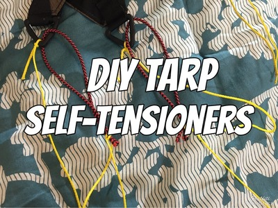 How to make DIY tarp self tensioners for hammock camping