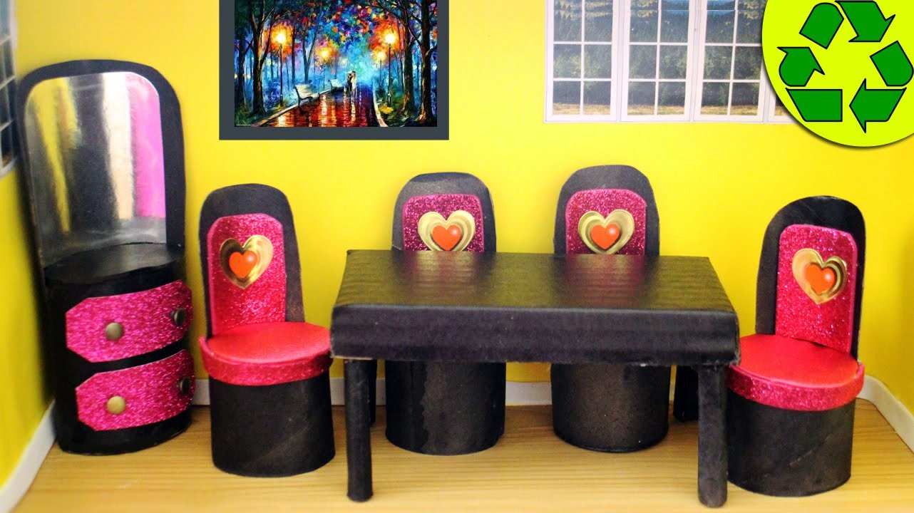 How to Make Doll Toilet Paper Roll Furniture - simplekidscrafts
