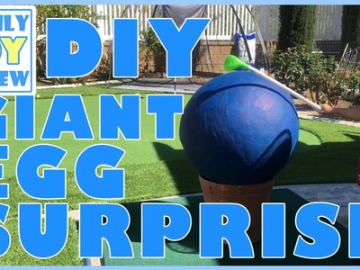 How To Make Giant Egg Surprise DIY with Surprise Toys Inside Homemade Easter Egg Pinata Craft