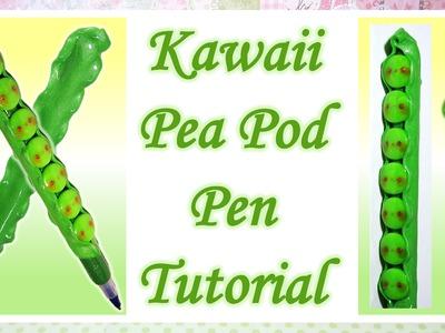 Kawaii Pea Pod Pen Tutorial: Polymer Clay DIY