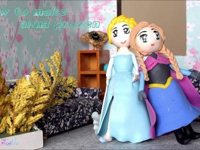 Little Anna from Frozen Movie ☺ DIY Polymer Clay Tutorial