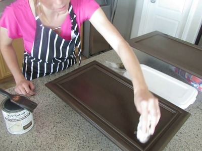 Rustoleum Cabinet Transformations Tutorial Cabinet How to Glaze DIY