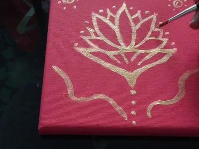 VEDA 12 - DIY Flor de lótus em tela