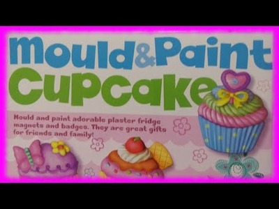 4M Mould & Paint Cup Cake DIY Fridge Magnet and Badge ♥ Toys World Video
