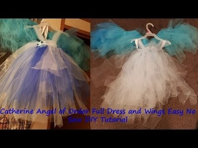 Catherine Angel of Order Full Dress and Wings Easy No Sew DIY Tutorial