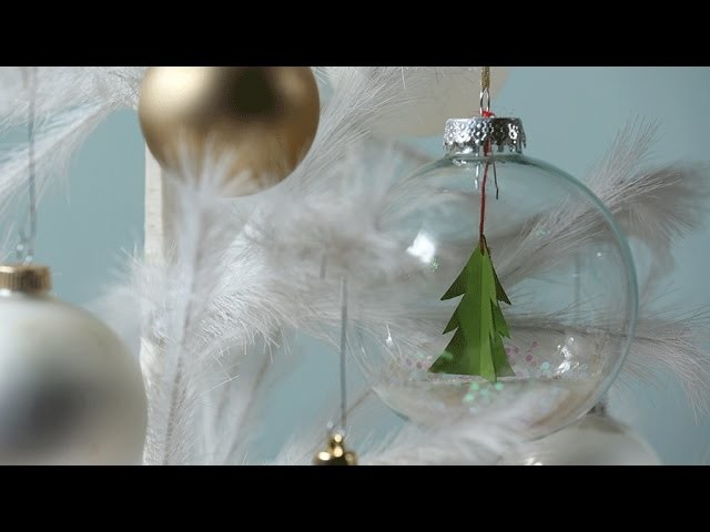 Christmas Ornament That Started as a Plain Glass Ball